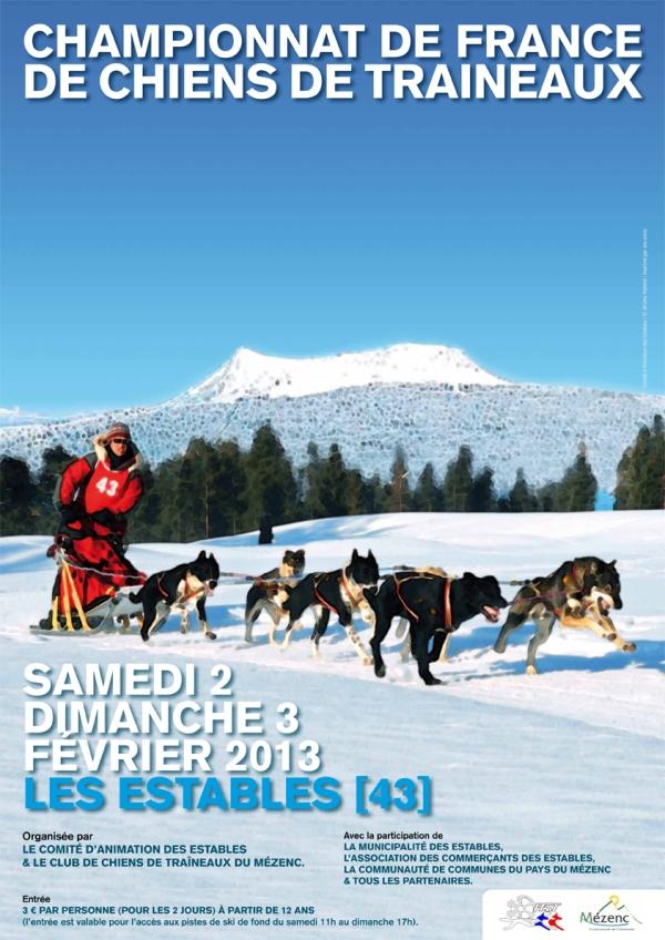 Championnat de France de Chiens de Traineaux - Les Estables (Haute-Loire) - Samedi 2 et dimanche 3 février 2013
